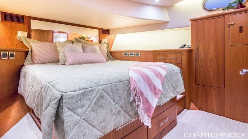 Bedroom aboard the Andiamo